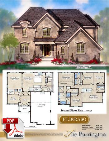 The Barrington Model Home Brochure