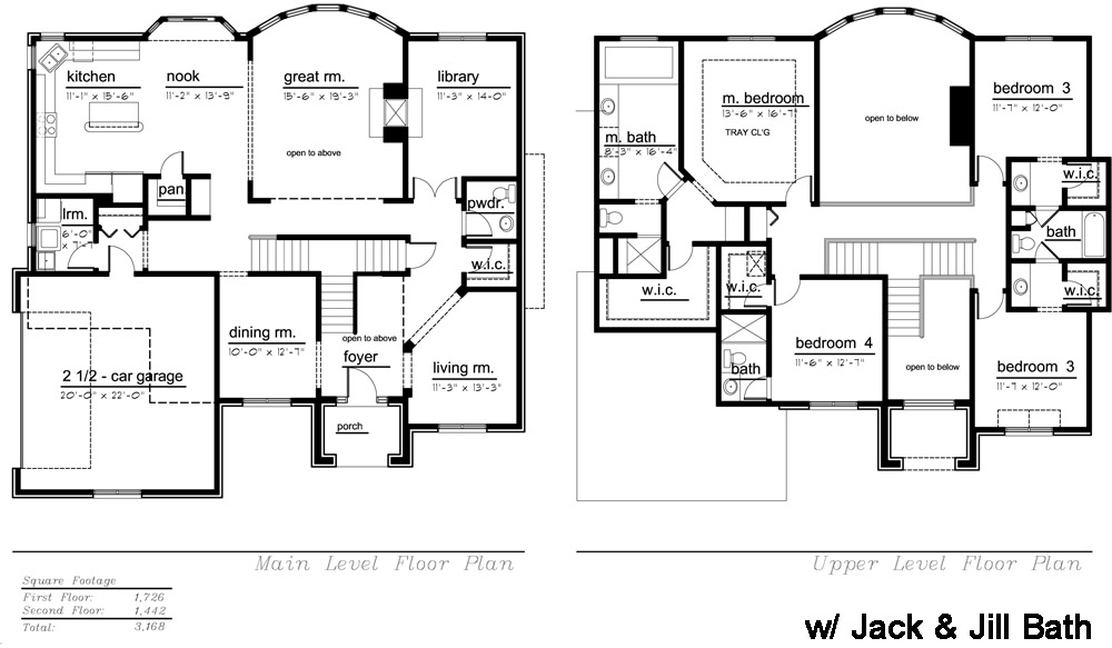 The Tuscany w/ J&J Model Floor Plan