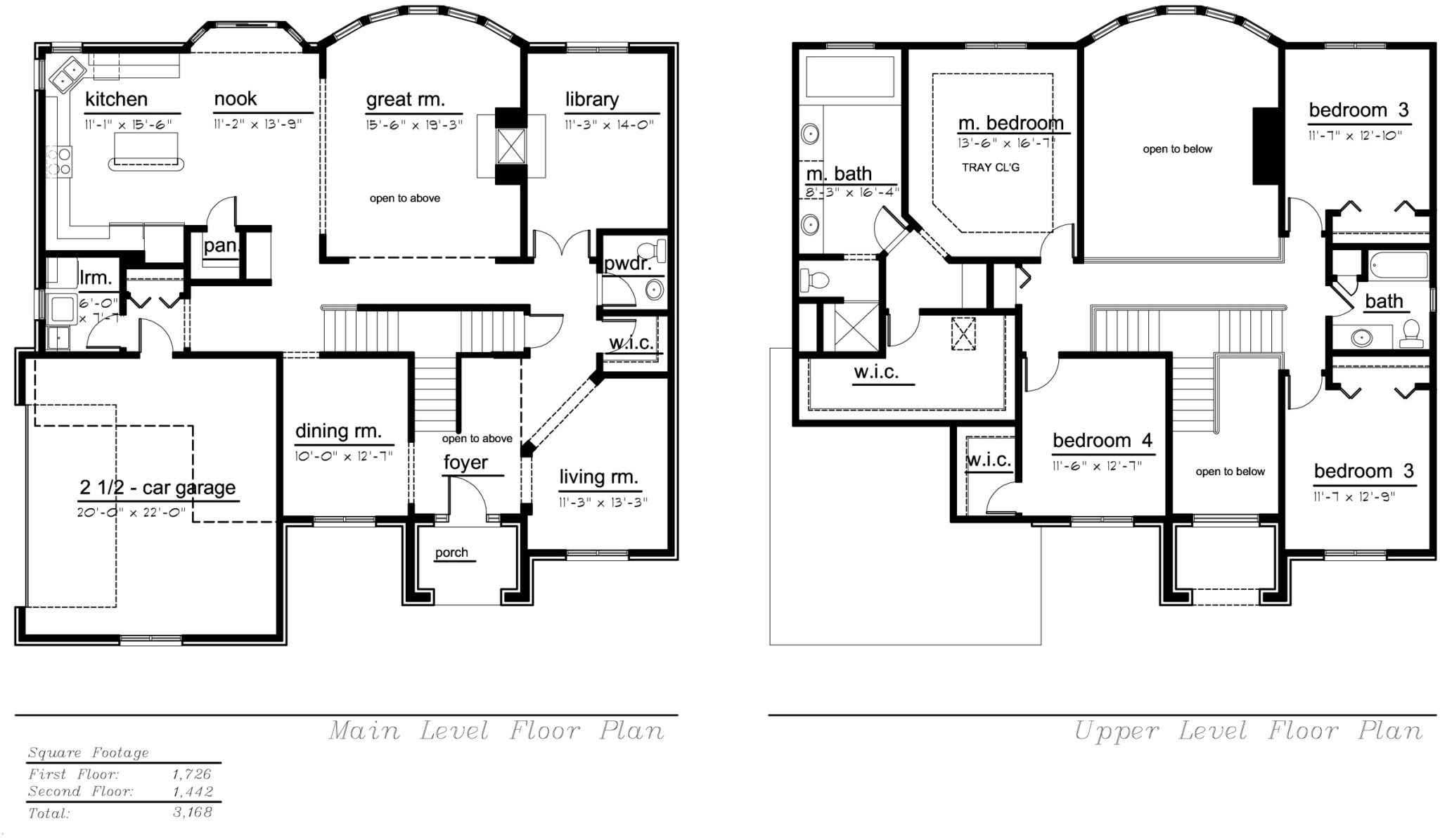 The Tuscany Model Floor Plan