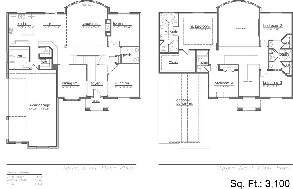 The Wilshire 3100 Model Floor Plan