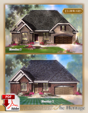 The Heritage Model Home Brochure
