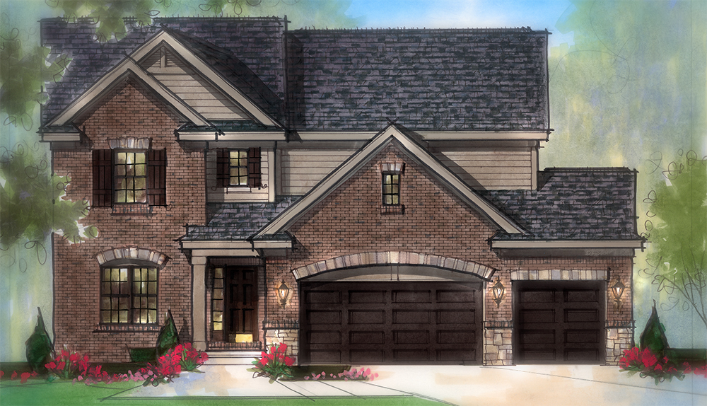 The Lochmoor Model Home Elevation A