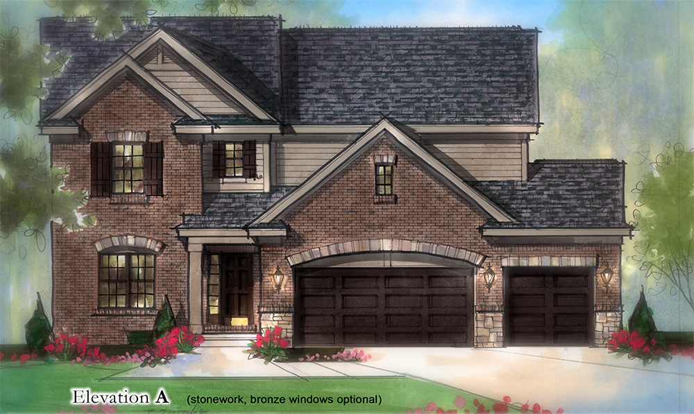 The Lochmoor Model Home Elevation A1