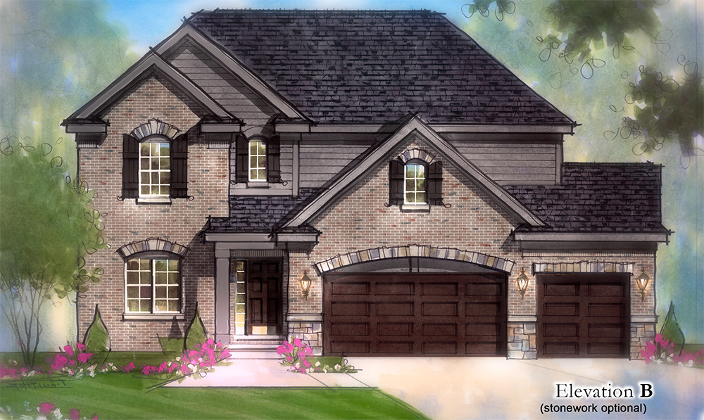The Lochmoor Model Home Elevation B