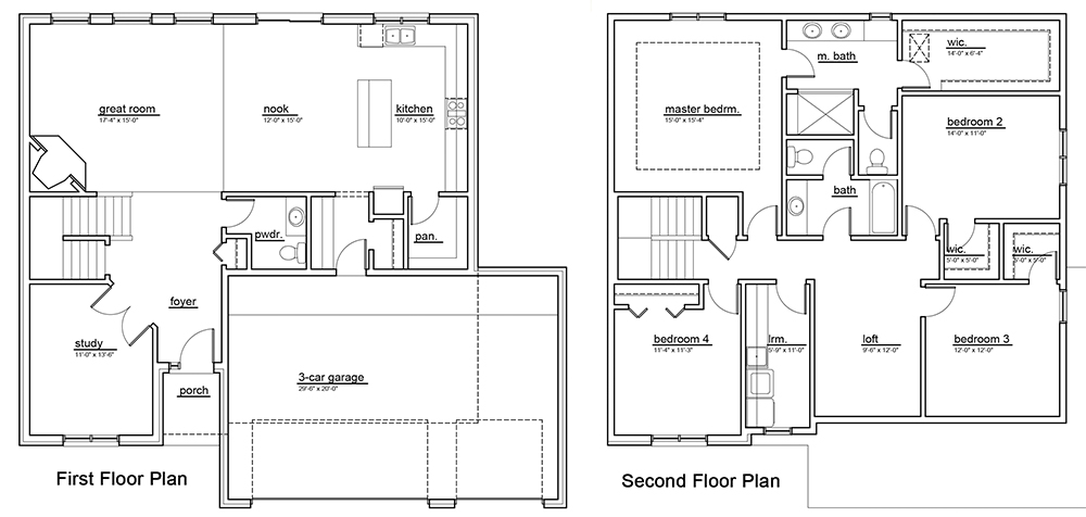 The Lochmoor Model Home Floor Plan A
