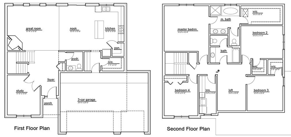 The Lochmoor Model Home Floor Plan B