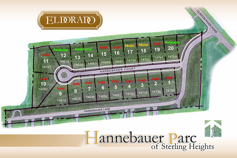 Hannebaur Parc Subdivsion Site Plan